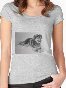 A Little Boys' Best Friend Women's Fitted Scoop T-Shirt