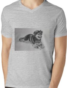 A Little Boys' Best Friend Mens V-Neck T-Shirt