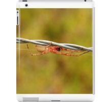 White Spider on Barbed Wire iPad Case/Skin
