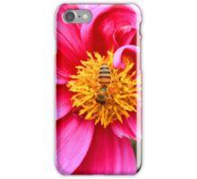Honey Bee on a Purple Flower iPhone Case/Skin