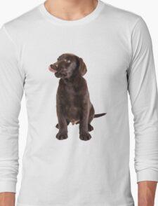 cute little brown labrador retriever puppy Long Sleeve T-Shirt