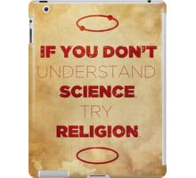 Science/Religion Poster iPad Case/Skin