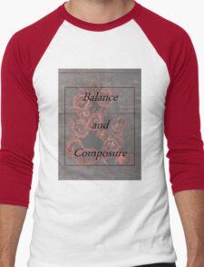 Balanace and Composure Roses Men's Baseball ¾ T-Shirt