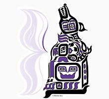 Arctic Night - Original Haida, Tlingit Wolf, Native American Art - Purple Unisex T-Shirt