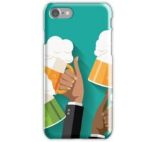 People clinking beer glasses.  iPhone Case/Skin