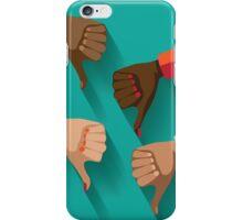 thumbs down, dislike flat design iPhone Case/Skin