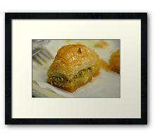 Baklavah Framed Print