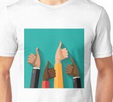 thumbs up flat design Unisex T-Shirt