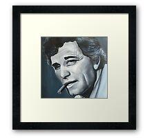 Portrait of Columbo Peter Falk- original painting Framed Print