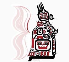 Arctic Night - Original Haida, Tlingit Wolf, Native American Art - Red Unisex T-Shirt