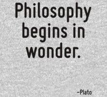 Philosophy begins in wonder. Baby Tee