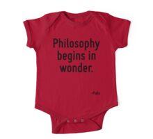 Philosophy begins in wonder. One Piece - Short Sleeve