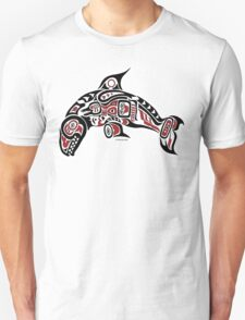 Haida Tlingit Killer Whale, Native American Orca - Red Unisex T-Shirt