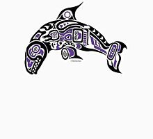 Haida Tlingit Killer Whale, Native American Orca - Purple Women's Fitted Scoop T-Shirt