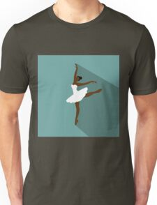 Beaituful black Ballerina in dance Unisex T-Shirt