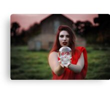 Scarlet Woman with Crystal Skull Canvas Print