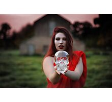 Scarlet Woman with Crystal Skull Photographic Print