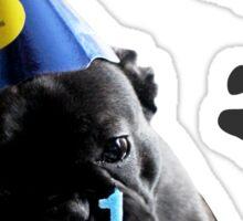 French Bulldog Birthday Sticker