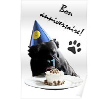French Bulldog Birthday Poster