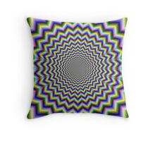 Crinkle Cut Psychedelia Throw Pillow