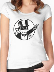 Rich Uncle Pennybags Women's Fitted Scoop T-Shirt