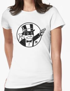 Rich Uncle Pennybags Womens Fitted T-Shirt