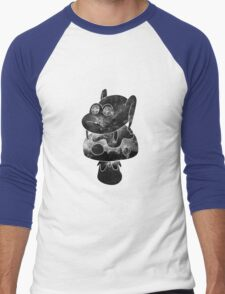 space frogger b&w Men's Baseball ¾ T-Shirt