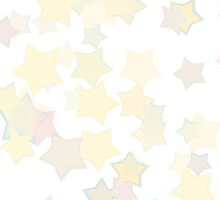 Confetti Star Pattern (WHITE x1) by Nina Buie