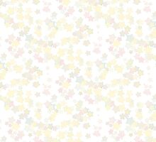 Confetti Star Pattern (WHITE x3) by Nina Buie