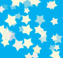 Confetti Star Pattern (BLUE x1) by Nina Buie