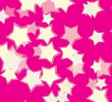 Confetti Star Pattern (PINK x1) by Nina Buie