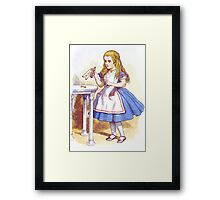 Alice and the Drink Framed Print