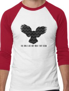 Twin Peaks - The Owls Are Not What They Seem Men's Baseball ¾ T-Shirt