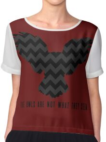 Twin Peaks - The Owls Are Not What They Seem Chiffon Top