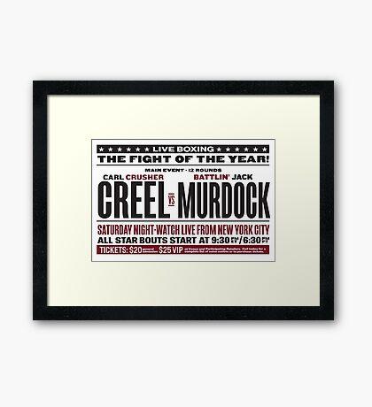 Creel vs Murdock Framed Print
