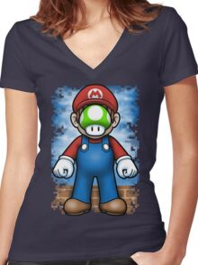 Plumber of Man Women's Fitted V-Neck T-Shirt