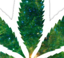 Galaxy Pot Leaf Sticker