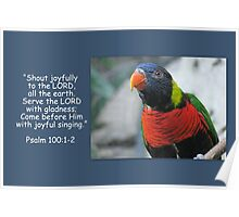 Shout Joyfully to the Lord Poster
