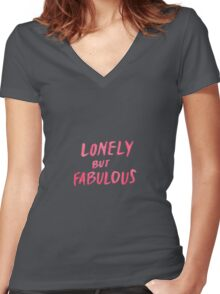 Lonely But Fabulous - Tshirts & Hoodies  Women's Fitted V-Neck T-Shirt