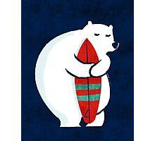 Surfing Polar Bear Photographic Print