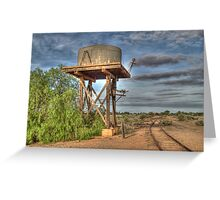 Railway To Nowhere, Silverton, NSW, Australia Greeting Card