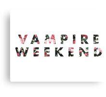 Vampire Weekend Floral Canvas Print