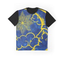 Moon vintage yellow Graphic T-Shirt