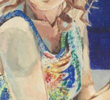 Blanche in Blue Sticker
