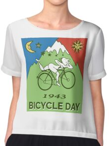 LSD - Bicycle Day 1943 Vintage T-Shirts Chiffon Top