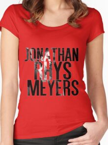 Jonathan Rhys Meyers Women's Fitted Scoop T-Shirt