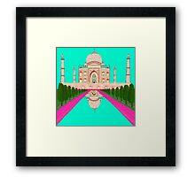 A Still Day in Agra (Aqua) Framed Print