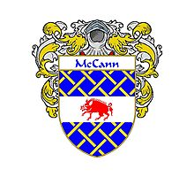 McCann Coat of Arms/Family Crest Photographic Print