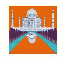 A Still Day in Agra (orange) Art Print