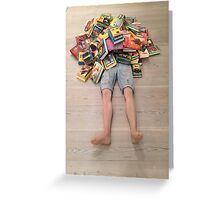 Books all over you Greeting Card